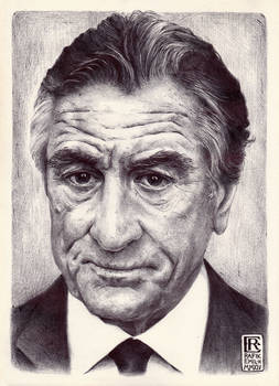 Robert De Niro Ballpoint Art by Rafik Emil H