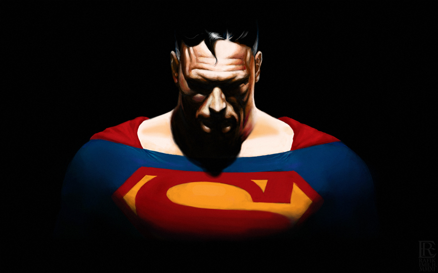 digital drawing alex ross superman by rafik emil h by