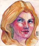 Watercolor Woman by Rafik Emil H