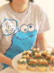 Me and the failed cookie-monster cupcakes by cookiiemon