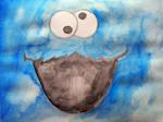 Cookie Monster Watercolor by cookiiemon