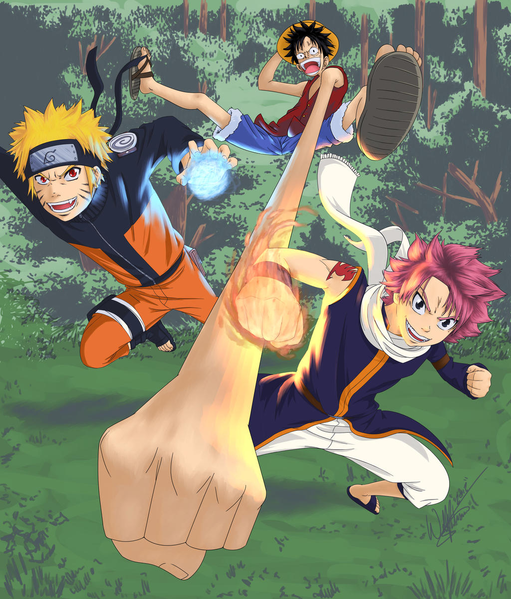 Shonen Big Three by DiscOhBot