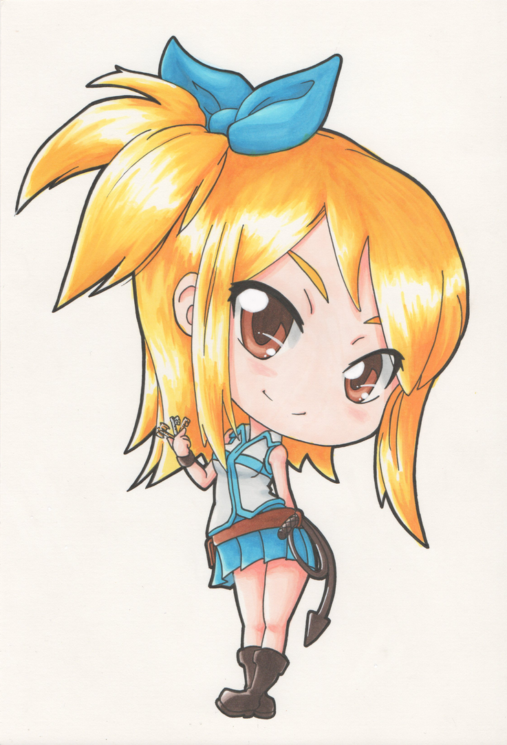 Chibi Lucy by DiscOhBot on DeviantArt