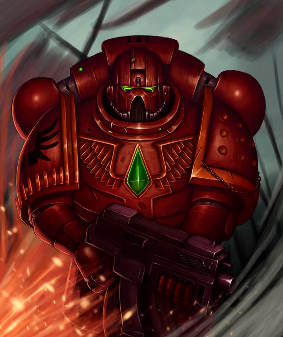 [W40K] Collection d'images : Space Marines Blood_angel_space_marine_by_1nkor-d5oz63o