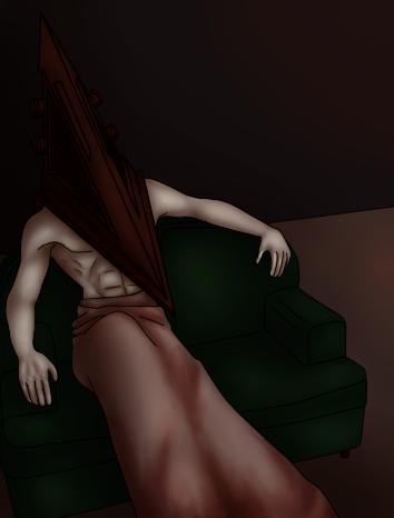 Pyramid Head - Couch by HannaOlsen