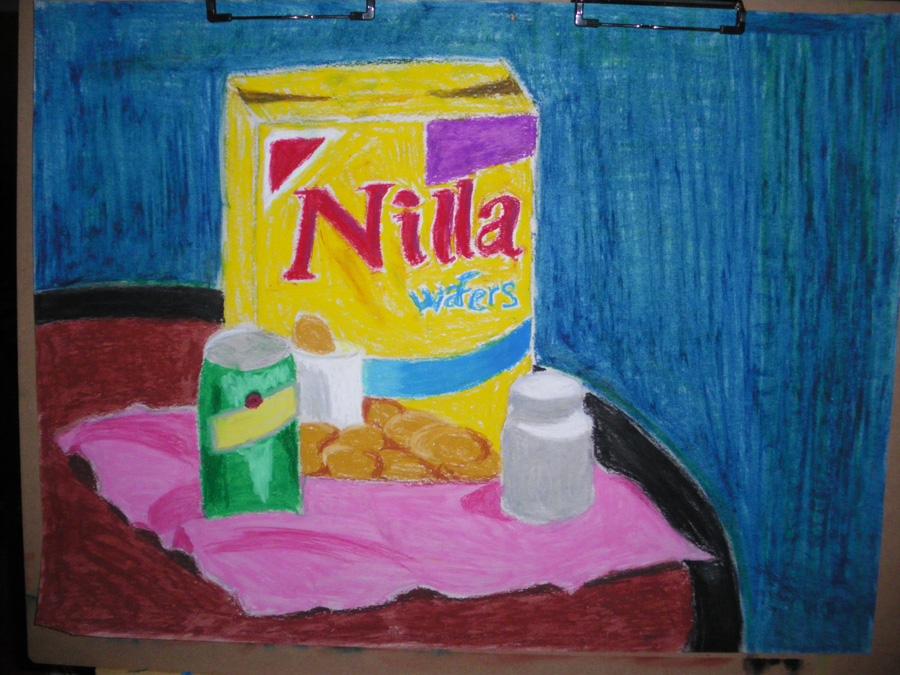 Oil pastel 4 - Nilla+soda+pill by artisticTaurean