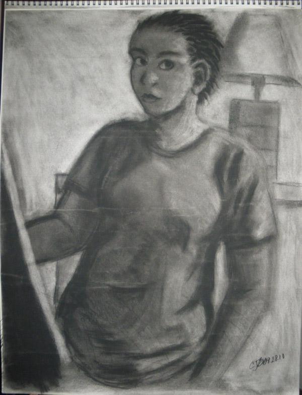 Life Drawing 1 - Self-Portrait by artisticTaurean
