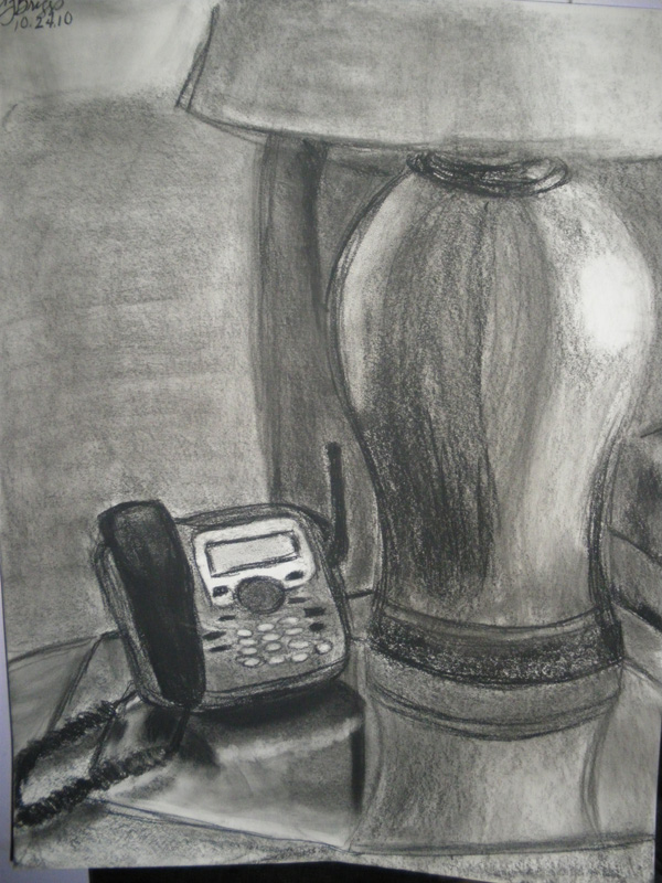 Living room - lamp on table by artisticTaurean