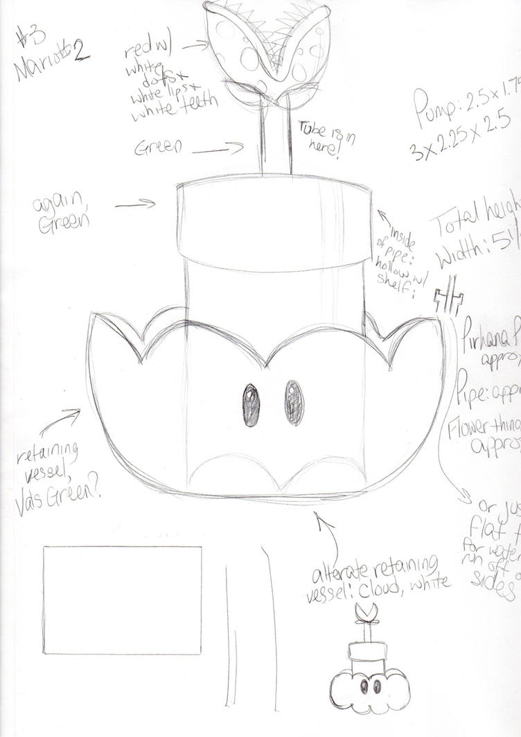 Piranha Plant fountain concept by artisticTaurean