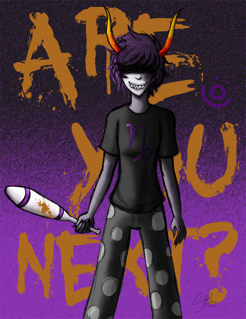 HS: Sober!Gamzee - Are You Next? by artisticTaurean