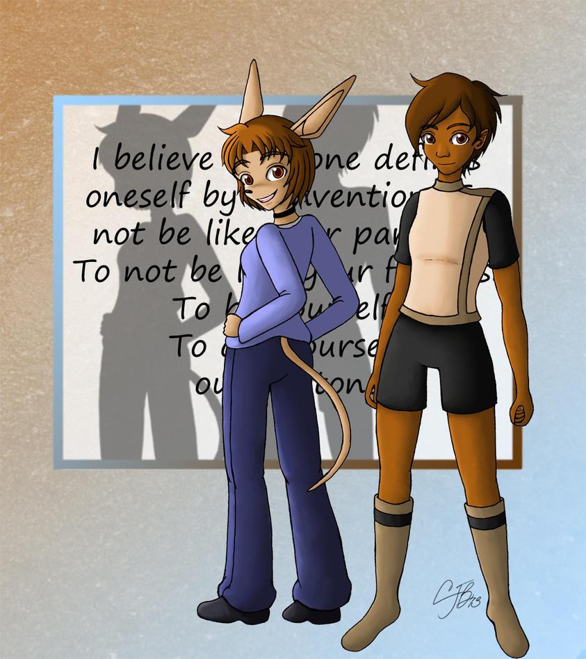 Avatars -CJ and Reilly- by artisticTaurean