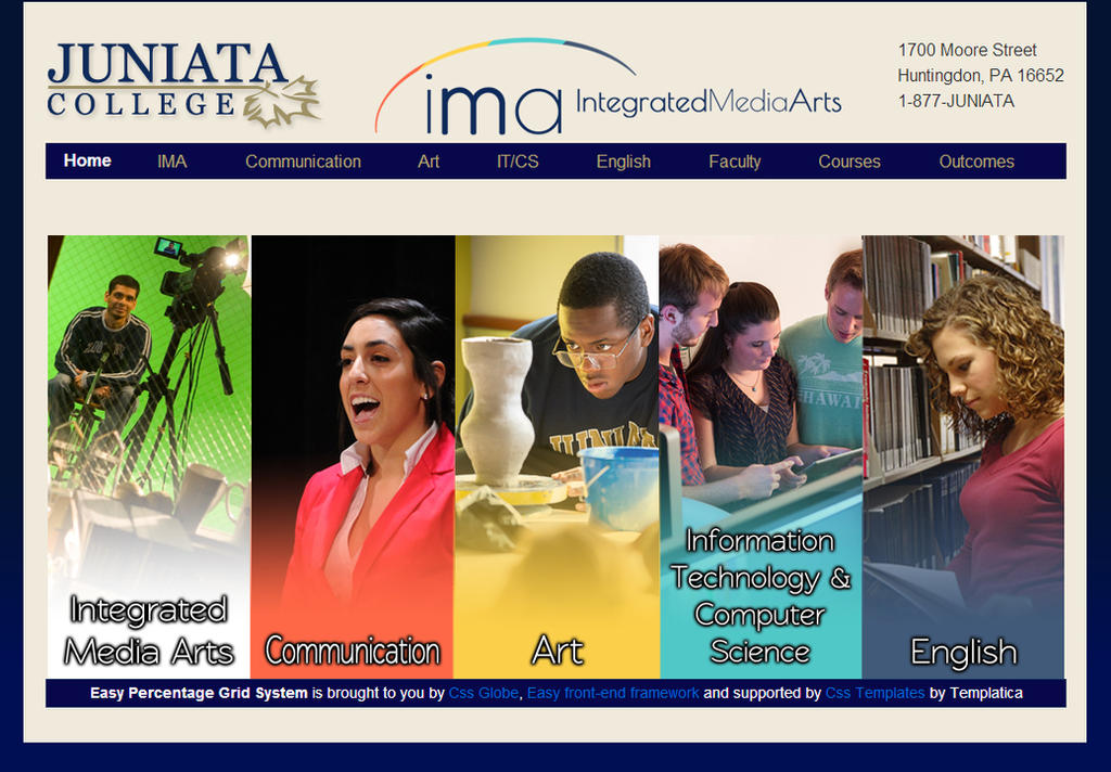 Honors Thesis - Website Home Page by artisticTaurean
