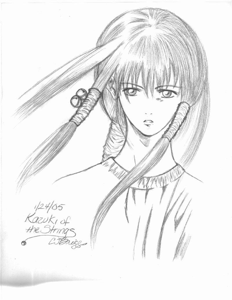 Kazuki of the Strings sketch by artisticTaurean