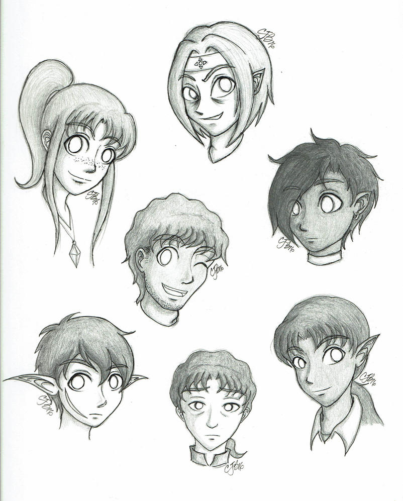 Headshots--2016 by artisticTaurean