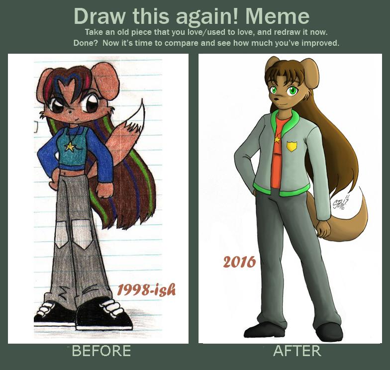 Draw This Again Meme - Nina Evans by artisticTaurean