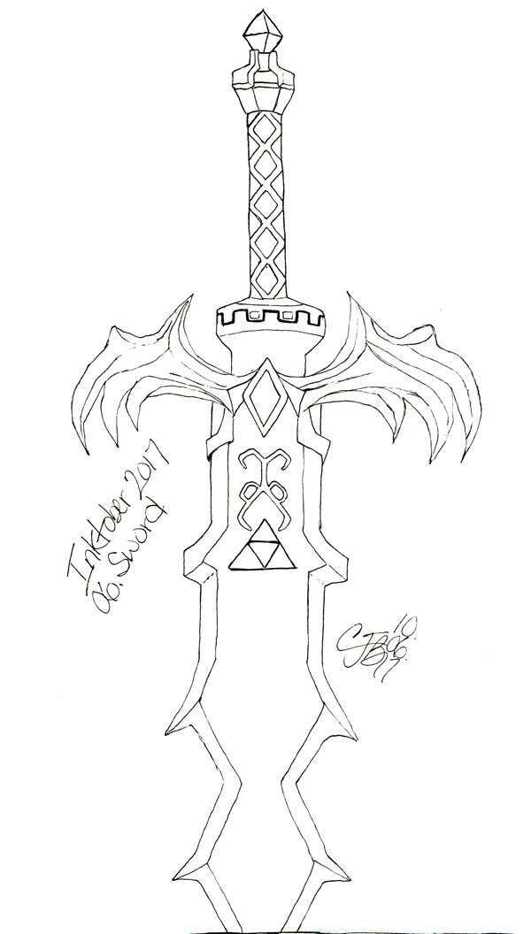 Inktober 2017 - 06 Sword by artisticTaurean