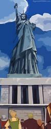Assault on Liberty Panorama by agentsofmask