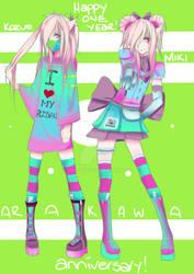 [Y-A] ARAKAWA TWINS! ONE YEAR ANNIVERSARY