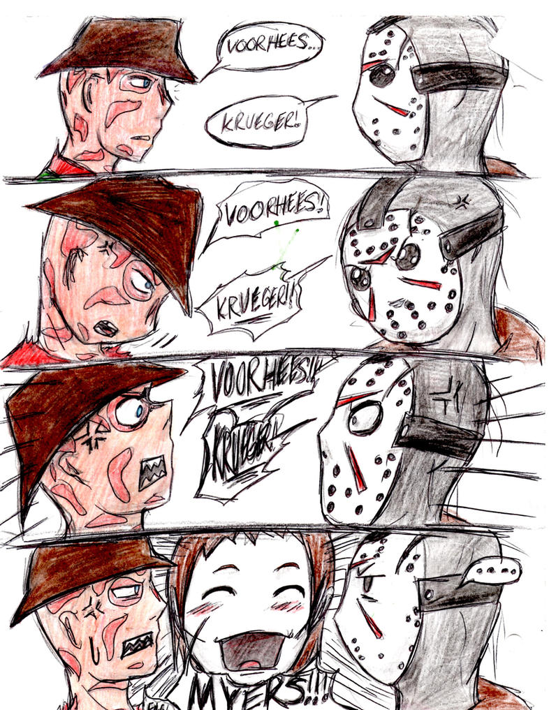 Freddy Vs Jason And Michael By HorrorMadnessPeep