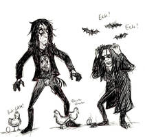 Alice Cooper and Ozzy Osbourne by HorrorMadnessPeep