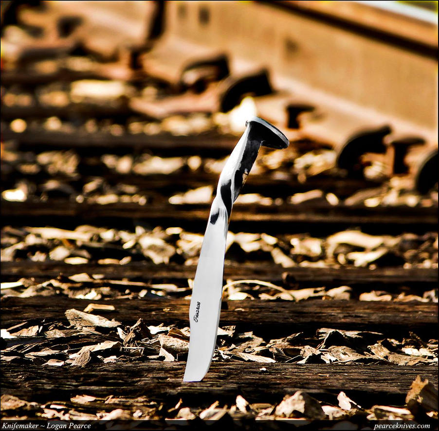Railroad Spike Knife by Logan-Pearce