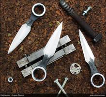 Wrench Neck Knife Push Dagger