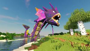 Minecraft Custom Gyarados Wallpaper - inostupid