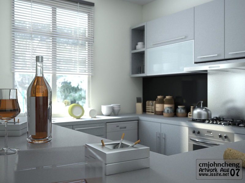 Grey Color Kitchen View2 By Cmjohncheng On Deviantart