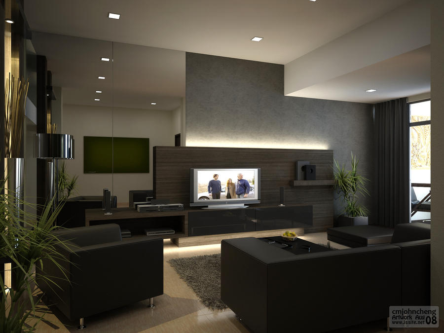 Dst living area by cmjohncheng on deviantart for Design ideas for family room kitchen area