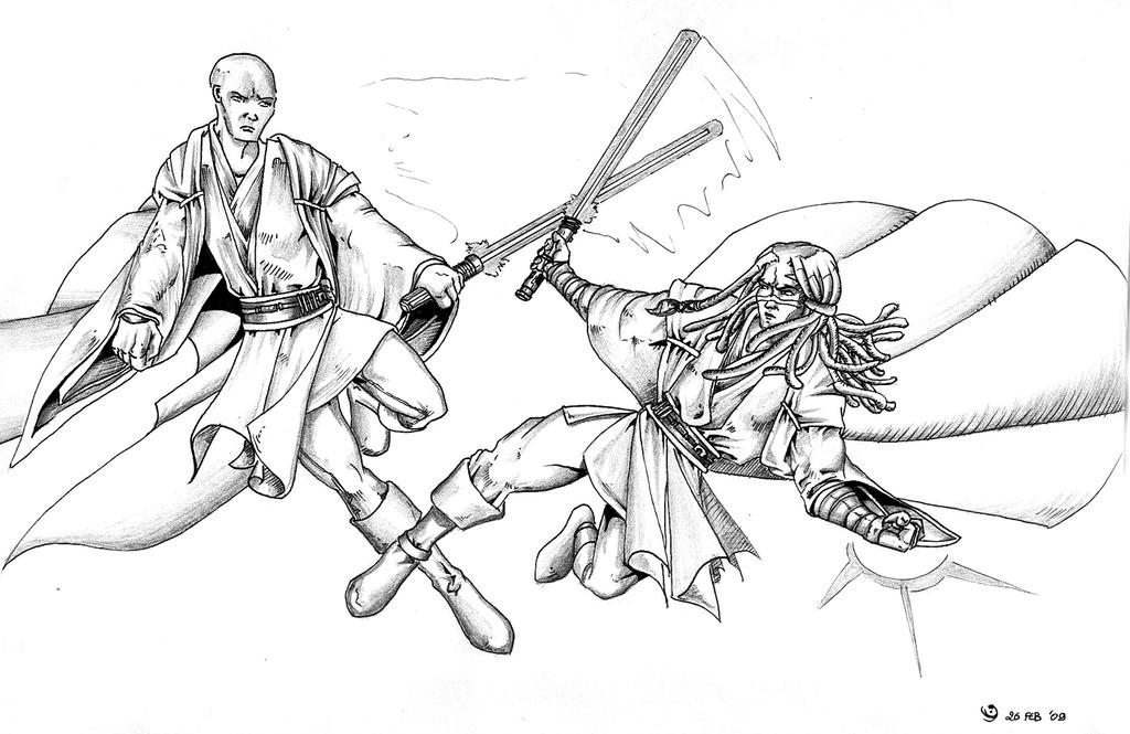 Mace windu vs quinlan vos by sofie3387 on deviantart LEGO Star Wars Luke Coloring Pages Mace Windu Jokes Mace Windu Padawan