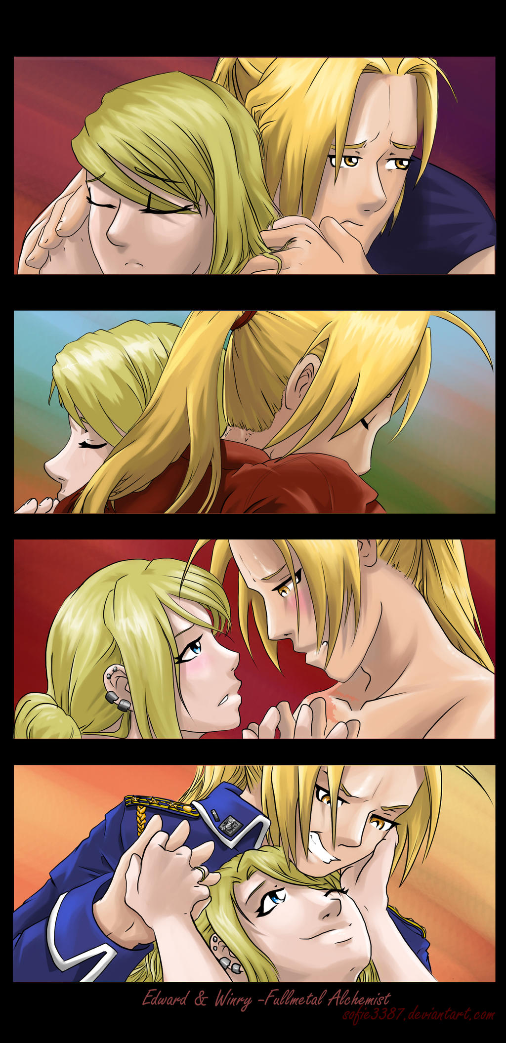 FMA: EdWin: evolving relationship II by Sofie3387