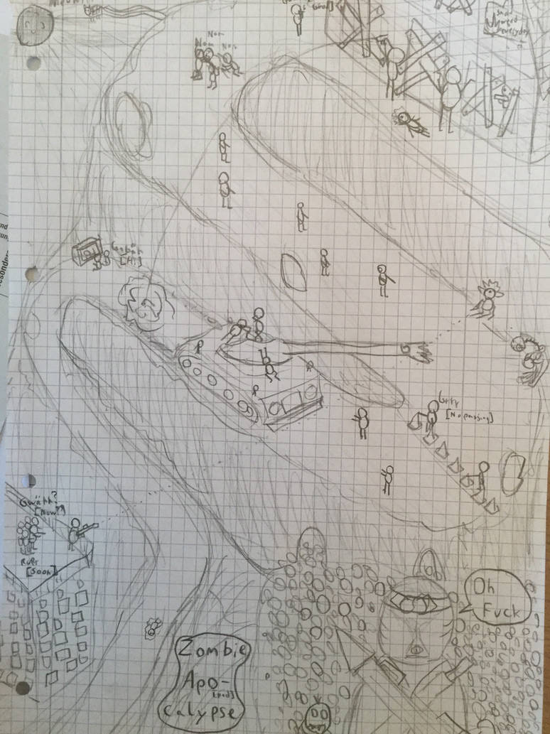 A Zombie Apocalypse Drawing By Dionje5 On Deviantart