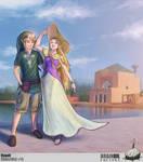 Link and Zelda in Marrakech