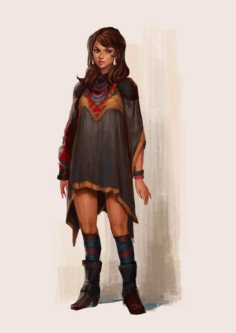 The girl with the fashion sense (I guess) by WhiteLeyth