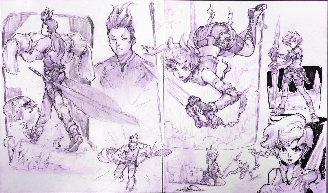 Random sketch page 1 by WhiteLeyth