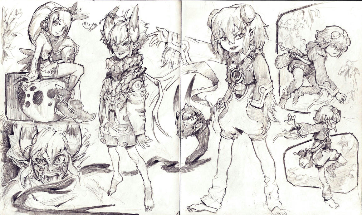 Random sketch page 2 by WhiteLeyth