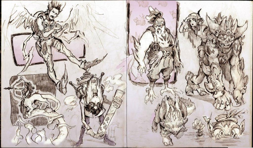 Random sketch page 3 by WhiteLeyth