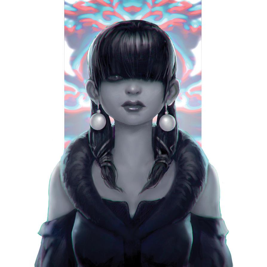 Random chick by WhiteLeyth