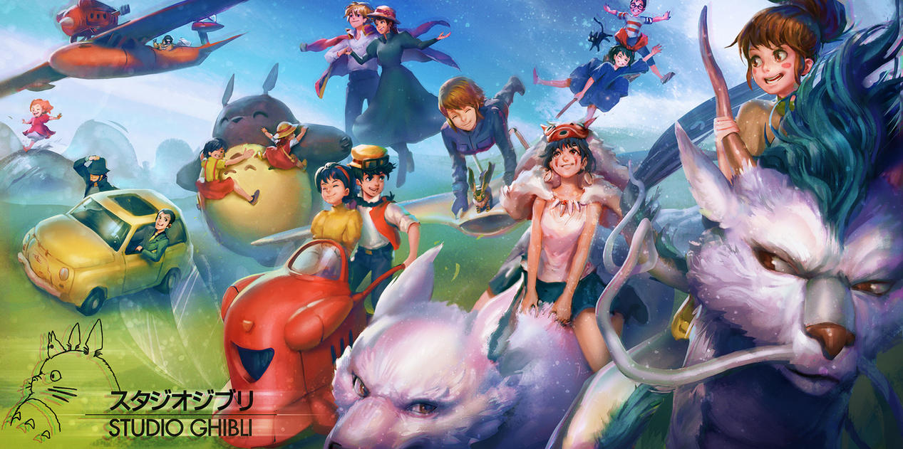 Ghibli Rides by WhiteLeyth