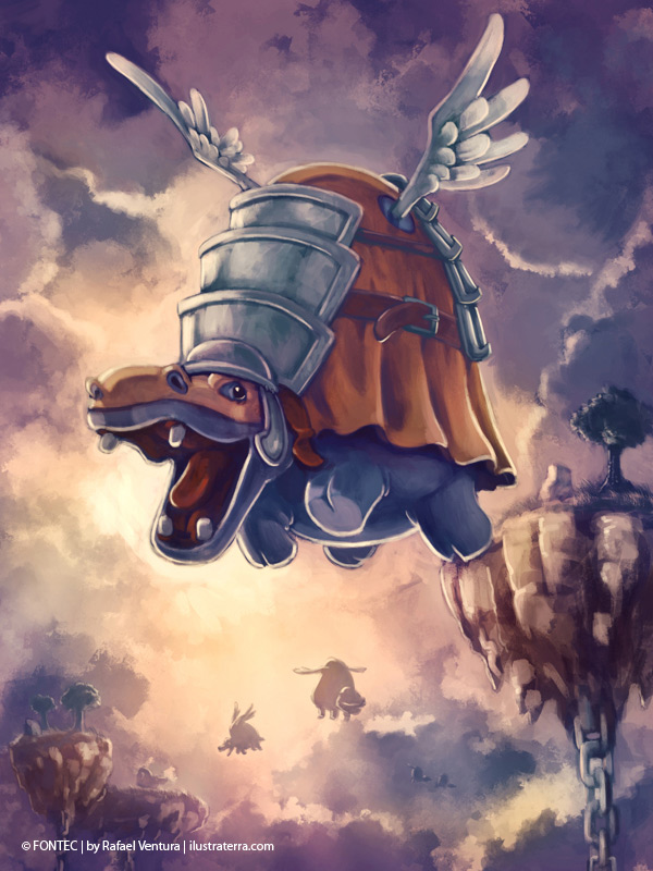 Flying War Hippo by rafaelventura
