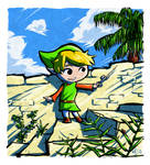 Zelda - Link playing the Wind