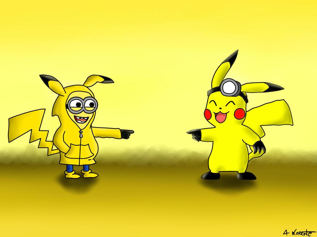 Pikachu and Minion by ALorente on DeviantArt