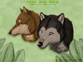 Akru and Sura by WoelfinNishi