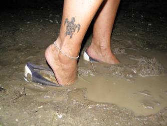 Canvas muddy stuck flats 1 by luk742003