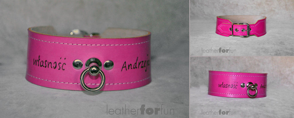 another pink collar by leatherforfun