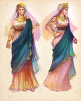 Character design for Mythologia Issue 1 - Hera by centrifugalstories