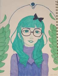 Green girl by DarkSirap