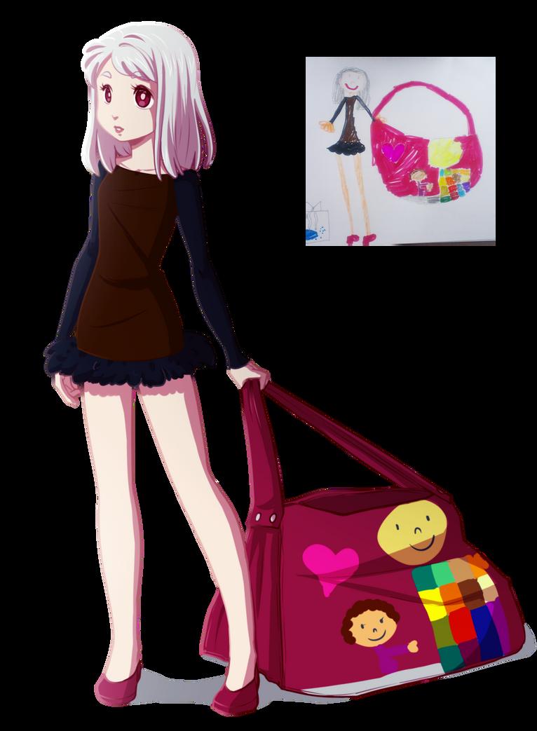 Childish doodle re-draw by Kiwa007