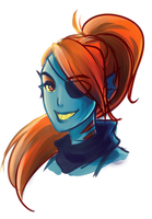 UnderTale: Undyne by Kiwa007