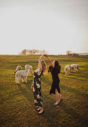 Dancing with the alpacas by xCatiix